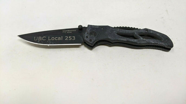 Kutmaster USA Tactical Folding Pocket Knife Liner Lock Plain Edge UBC Local 253