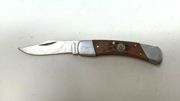 Sarge Model SK-145 Folding Pocket Knife Lockback Jigged Bone Handle Stainless