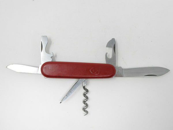 Vintage Elinox Red Swiss Army Knife 7 Function MultiTool