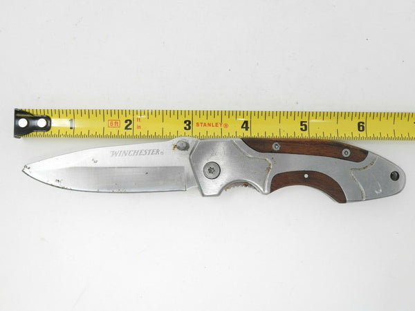Winchester Plain Blade Framelock Folding Pocket Knife *Blade is chipped*