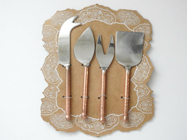 Artistic Accents: Cheese Knife Set Copper Handles