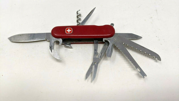 Wenger Delemont Switzerland Stainless Swiss Army Knife Multi Tool Chipped Blade