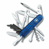 Victorinox Swiss Army Knife 13 Tool, Blue Translucent w/ Multi-bit Screwdriver
