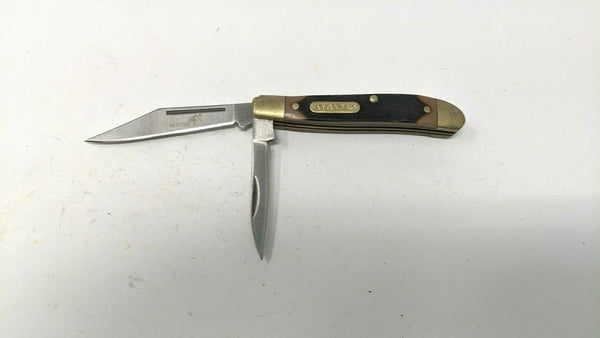 Mustang Fury #10351 Stockman Folding Pocket Knife 2 440 Stainless Steel Blades