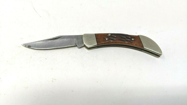 Frost Cutlery Surgical Steel Folding Pocket Knife Red Jigged Bone Lockback