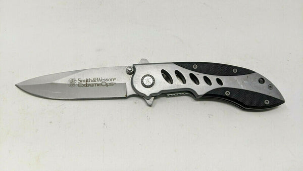 Smith & Wesson Extreme Ops CK70 Cuttin Horse Folding Pocket Knife Liner Lock G10