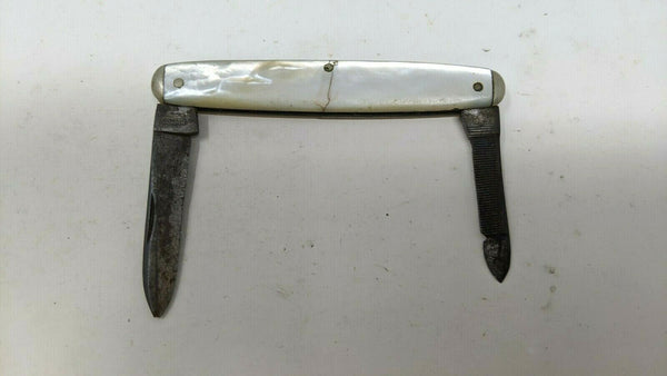 Vintage Challenge Cutlery Co 1930's Gentleman's Folding Pocket Knife Nail File