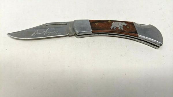 Montana Silversmiths By Dan Gwynn Folding Pocket Knife Silver Bear Lockback G2