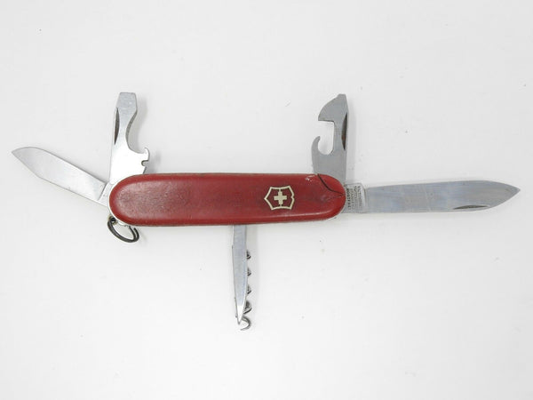 Victorinox Tourist Swiss Army Pocket Knife w/ Clip Point Blade *Cracked Handle*