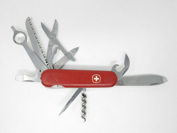 Wenger Delemont Swiss Red Multi-Tool Knife with Magnifying Glass *Discontinued*