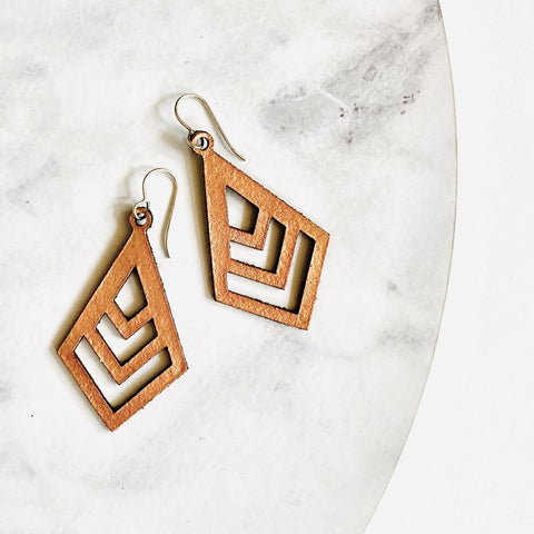 Diamond Chevron Earrings - Heir Jewellery