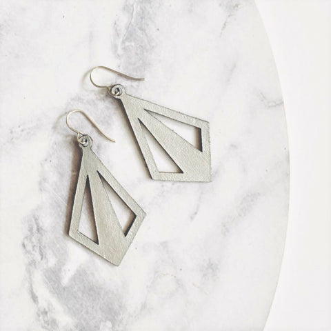 Diamond Cut Out Earrings - Heir Jewellery