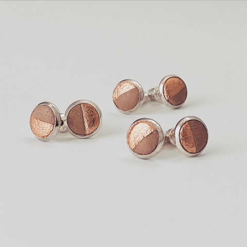 Coffee Lovers Latte Leather Studs - Heir Jewellery