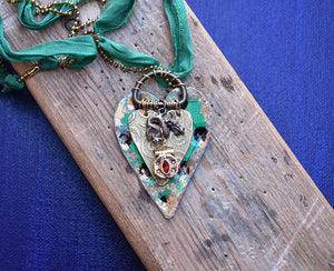 Green Dragon Heart Necklace