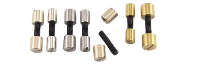 Acorn Nut Screws- Brass, Nickel Silver & Stainless - Jantz Supply