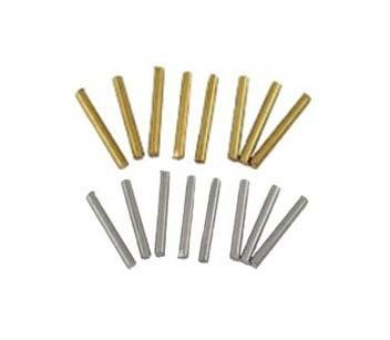 "Brass and Nickel Silver Handle Pins 1"" length - pkg. 12 - Jantz Supply"