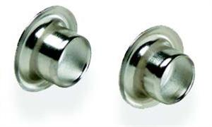 "Ke422 1/4"" X .187"" Nickel Plated Eyelets (Pkg 100) - Jantz Supply"