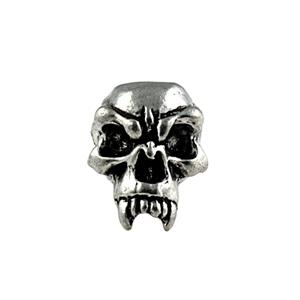 Sh201 Fang Pewter Skull Bead - Jantz Supply
