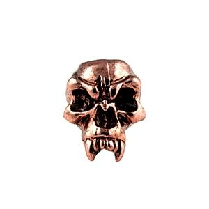 Sh203 Fang Antique Copper Skull Bead - Jantz Supply