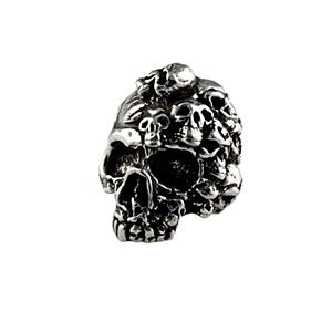 Sh301 Mind Pewter Skull Bead - Jantz Supply