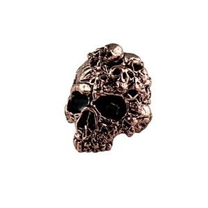 Sh303 Mind Antique Copper Skull Bead - Jantz Supply