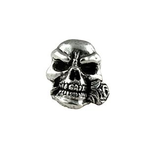 Sh401 Rose Pewter Skull Bead - Jantz Supply