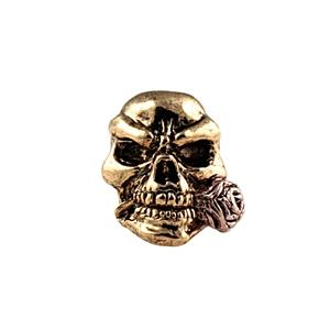 Sh404 Rose 2 Tone (Antique Rhodium And Gold) Skull Bead - Jantz Supply