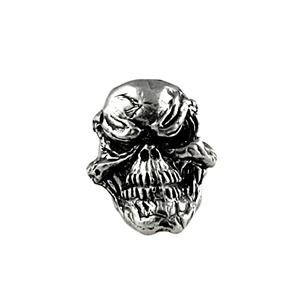 Sh601 Grins Pewter Skull Bead - Jantz Supply