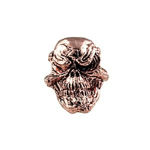 Sh603 Grins Antique Copper Skull Bead - Jantz Supply