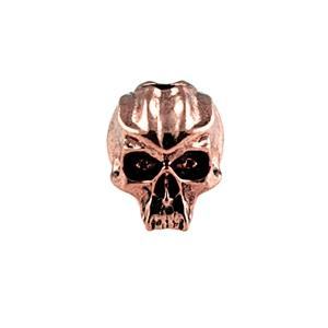 Sh703 Cyber Antique Copper Skull Bead - Jantz Supply