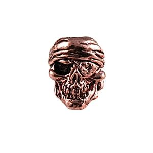 Sh803 One Eye'D Jack Antique Copper Skull Bead - Jantz Supply