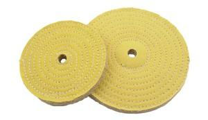 "Yellow Cloth / Sisal Buff Blending Wheels 6"", 8"", and 10"" - Jantz Supply"