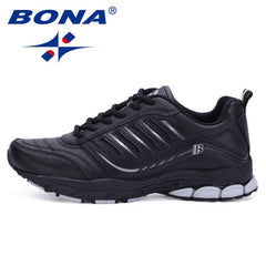 BONA New Most Popular Style Men Running Shoes Outdoor Walking Sneakers Comfortable Athletic Shoes Men  For Sport Free Shipping