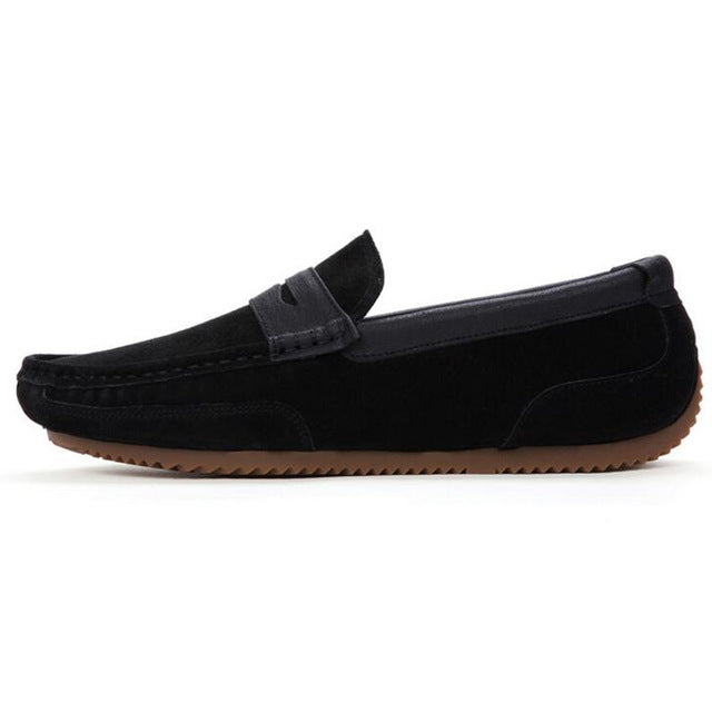 Tangnest Brand Men Suede Leather Loafers New 2017 British Style Men's Flats Man Comfortable Driving Shoes Man Moccasins XMR2522