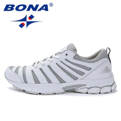 BONA New Bassics Style Men Running Shoes Outdoor Walking Jogging Sneakers Lace Up Athletic Shoes Comfortable sport Shoes For Men