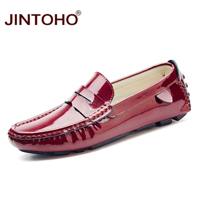 JINTOHO Big Size Men Leather Shoes Slip On Men Loafers Fashion Casual Men Shoes Male Flats Shoes Luxury Brand Designer Shoes