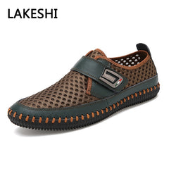 Mens Sandals PU Leather Slip On Men Shoes Soft Comfortable