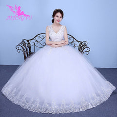 AIJINGYU 2018 white free shipping new hot selling cheap ball gown lace up back formal bride dresses wedding dress WK149