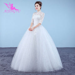 AIJINGYU 2019 princess free shipping new hot selling cheap ball gown lace up back formal bride dresses wedding dress WK834