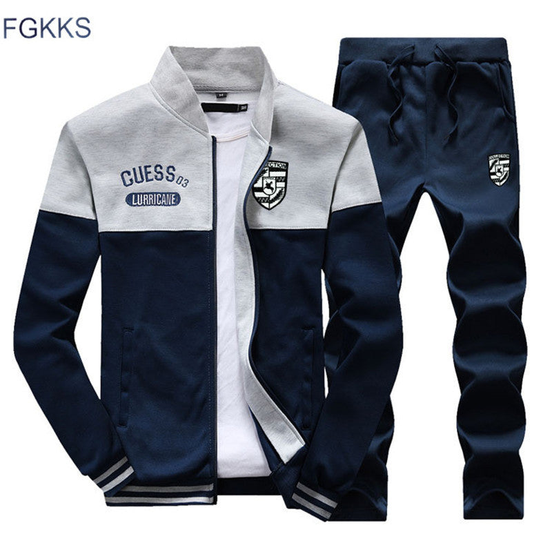 FGKKS 2018 Men Sportswear Hoodies Set New Autumn Suit Clothes Tracksuits Male Sweatshirts & Coats Polo Track Suits