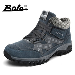 BOLE Size 36-46 Men Warm Casual Shoes Snow Plus Cotton Keep Warm Men Casual Shoes High Quality Men Sneakers High-top Shoes