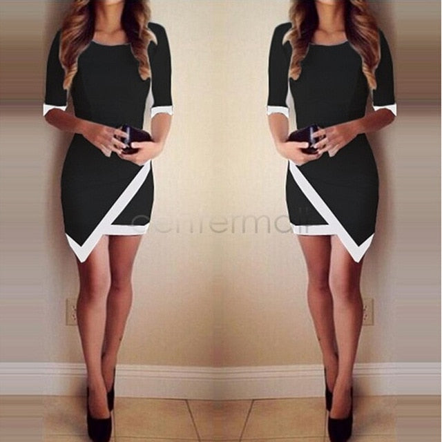 Dress Women Bandage Bodycon Half Sleeve Evening Sexy Party Mini Dress