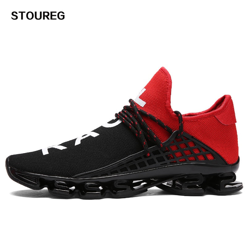 Unisex Running Sneakers Couple Sport Shoes Men Women Lace-up Breathable Mesh Shoes For Men Women 36-46 3 Colors