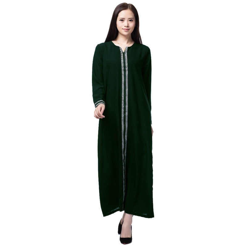 Dubai Abaya Islamic Dress Turkish Muslim Kaftan Long Dress Muslim Women Dress Plus Size Muslim Costumes Arab Malaysia Abaya