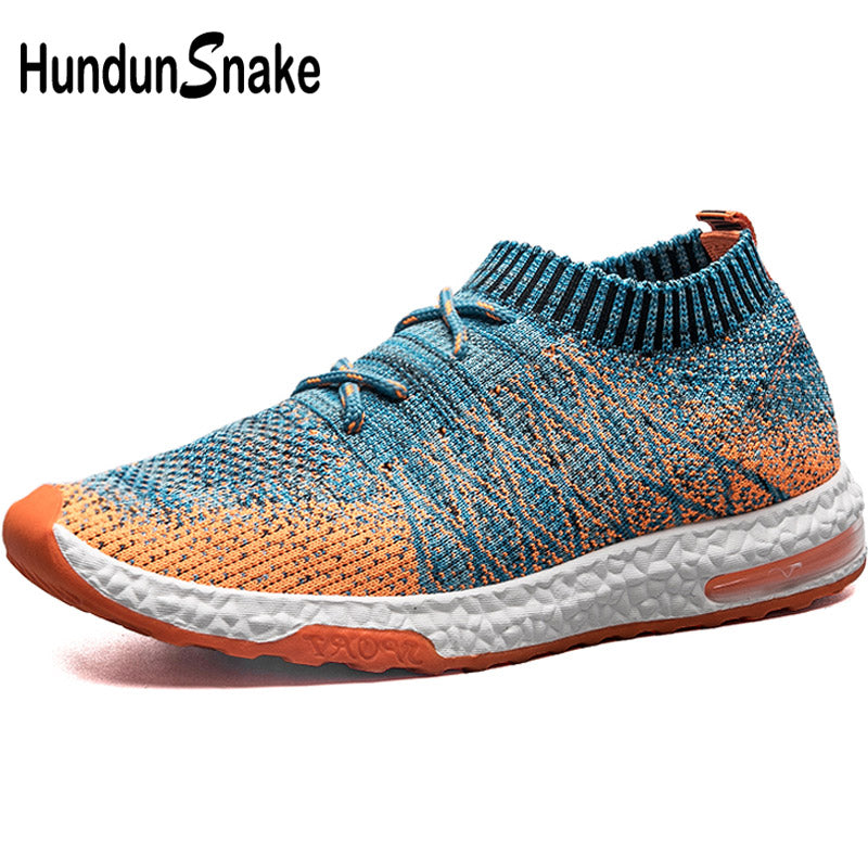 Hundunsnake Air Cushion Men's Sneakers Male Sports Shoes Man Running Socks Sneakers Men Running Shoes Knit Sport Shoes Men T351