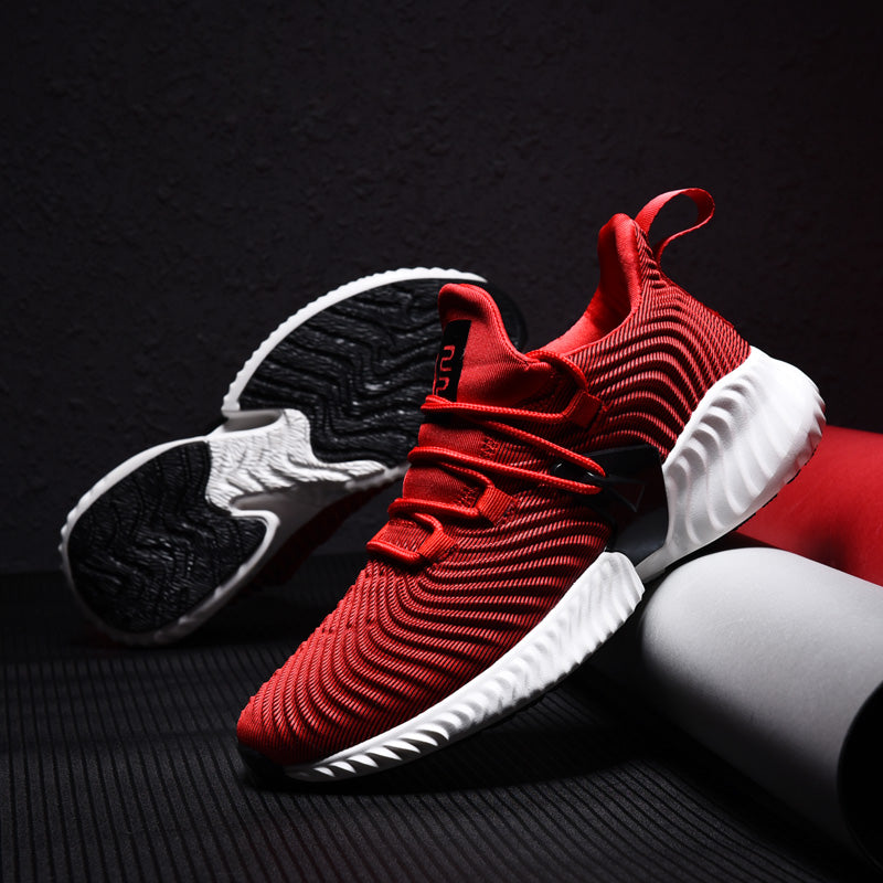 2018 High Quality Men Sneakers Lace Up Autumn New Cushioning Sport Shoes Men Black Red Gray Male Adult Running Shoes for Man