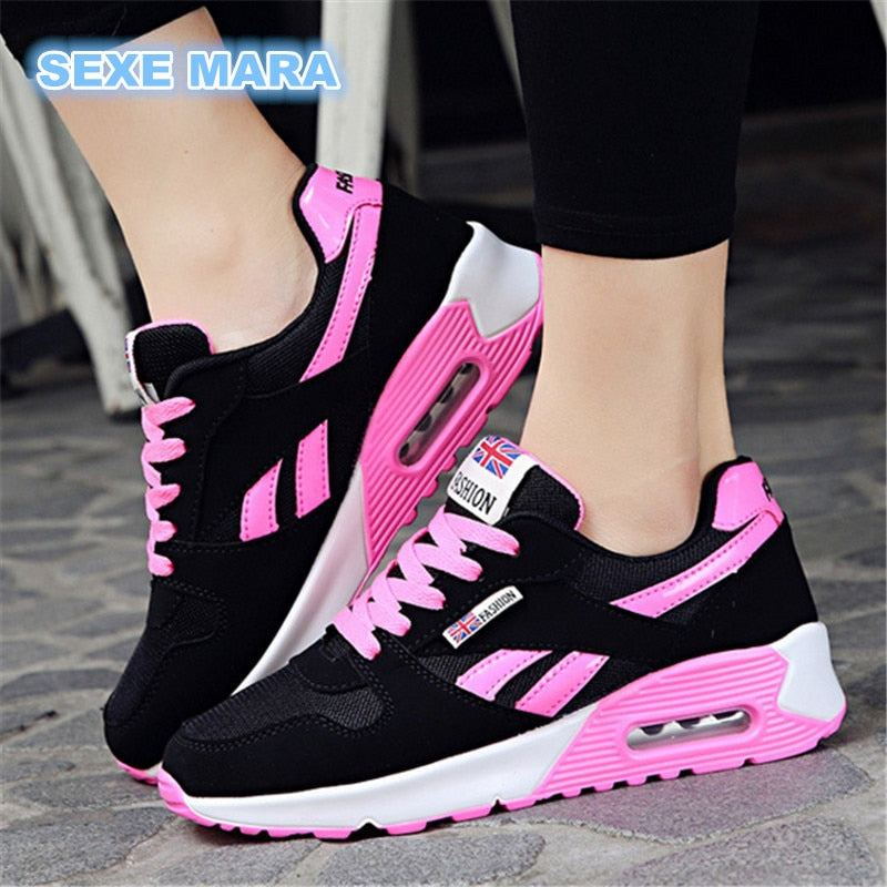 new 2018 Hot Sale Sport shoes woman Air cushion Running shoes for women Outdoor Summer Sneakers women Walking Jogging Trainers N