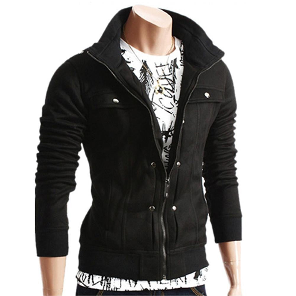 Men Fashion Long Sleeve Slim Fit Coat Jacket Tops Sweatshirt Overcoat Outwear