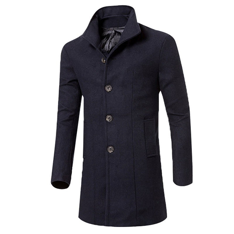 WINTER Mens Fashion Trench Coat Warm Thicken Jacket Peacoat Long Overcoat