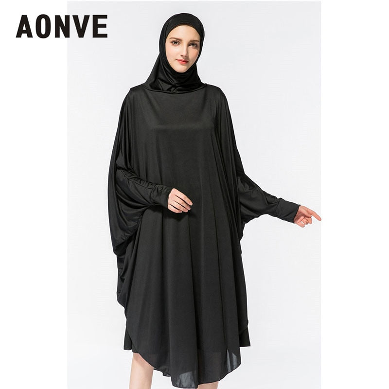 Aonve Hijab Abaya Women Islamic Body Head Covering Kaftan Muslim Eid Festival Prayer Clothing Femme Formal Robe Musulmane Caftan